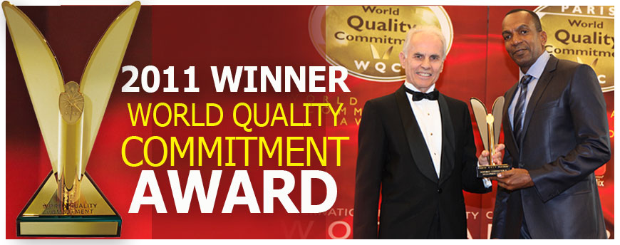 2011 Winner World Quality Commitment Award